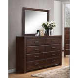 Audree 8 Drawer Double Dresser with Mirror by Red Barrel Studio®