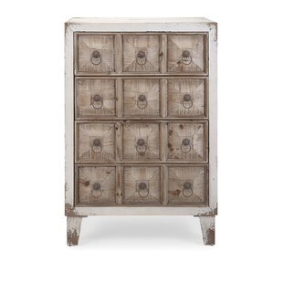 Compare prices Fidel 3 Drawer Accent Chest ByBungalow Rose