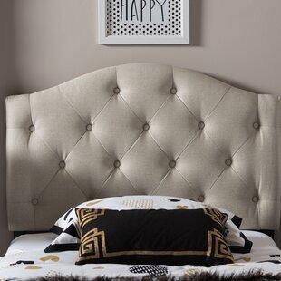 Harriet Bee Lindeman Twin Upholstered Panel Headboard