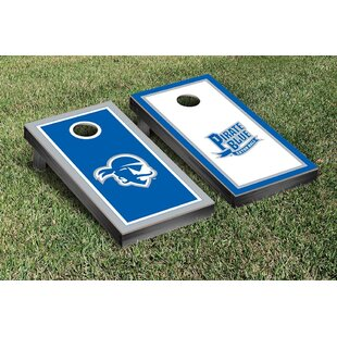 Victory Tailgate NCAA Border Wooden Alternating Cornhole Game Set