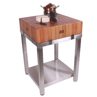 Cucina Americana Laforza Prep Table with Butcher Block Top John Boos