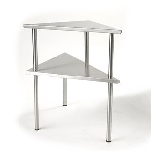 2 Tier Kitchen Corner Rack Prep Table Mind Reader