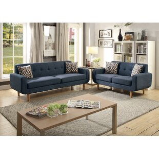 Donte Dorris Fabric 2 Piece Living Room Set