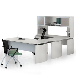 Medina 8-Piece U-Shape Desk Office Suite by Mayline Group Great Reviews