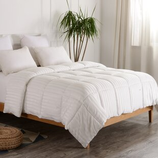 Striped All Season Down Alternative Comforter