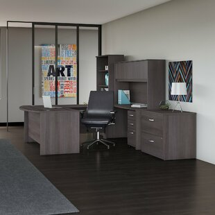 Studio C 5 Piece Office Set With Hutch by Bush Business Furniture 2019 Online