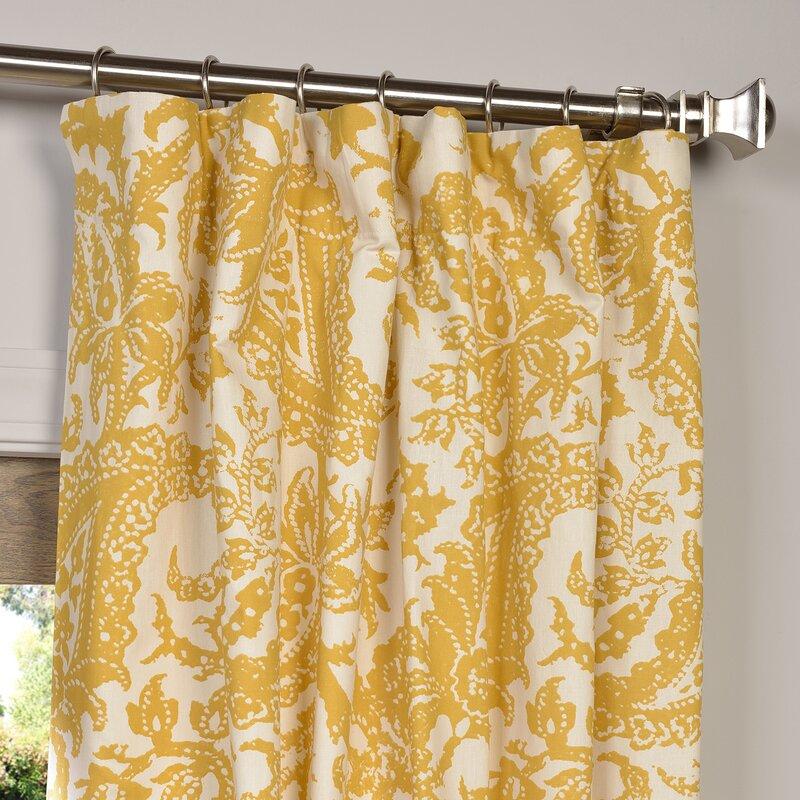 Locke Printed Cotton Curtain Panel
