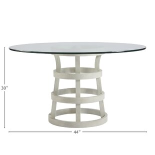 Lynx Glass Dining Table Bay Isle Home