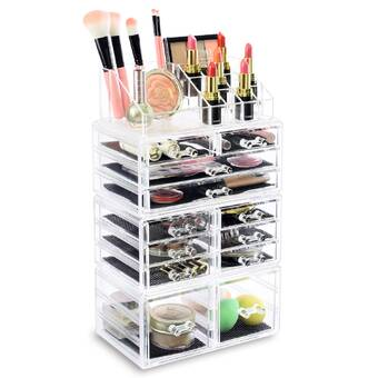Rebrilliant 4 Piece Home Acrylic Jewellery And Cosmetic Makeup Organizer Set Reviews Wayfair Ca