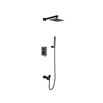 Aquamoon Milan Diverter Dual Function Volume Control Shower Faucet With Rough In Valve And Trim Reviews Wayfair