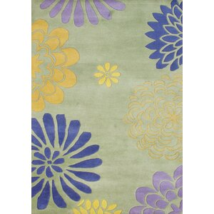 Balaghat Hand-Tufted Bright Lime Green Area Rug