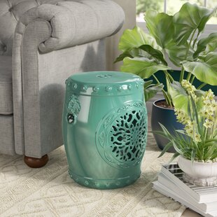 Genial Teal Garden Stool | Wayfair