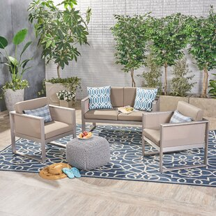Juan Outdoor Mesh 3 Piece Sofa Seating Group with Cushions