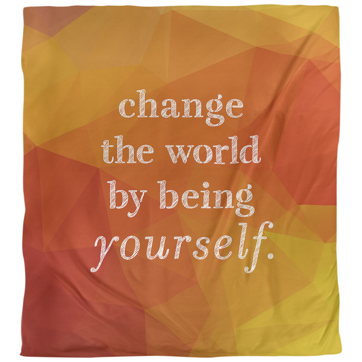 East Urban Home Change The World Quote Single Duvet Cover Wayfair