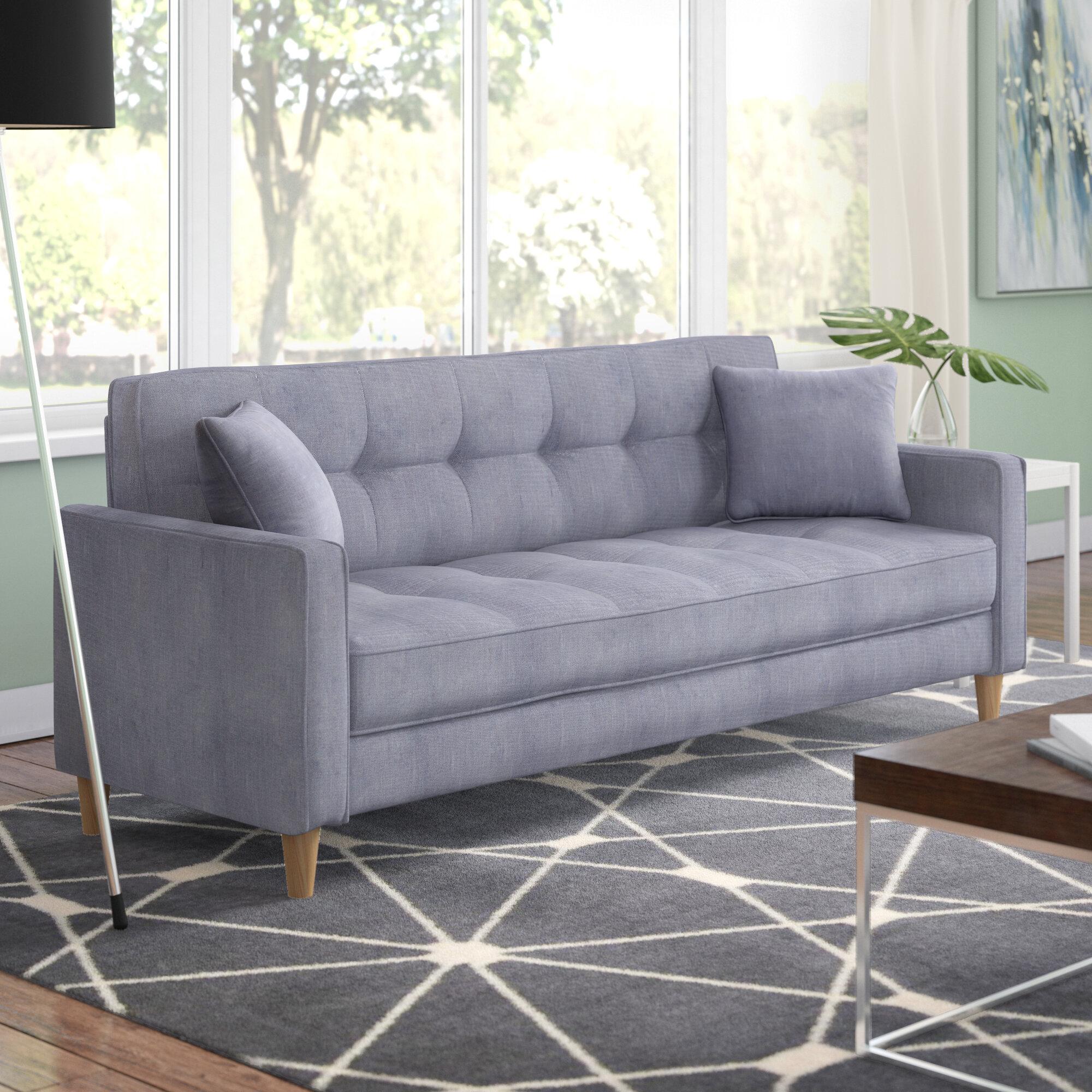 Incredible Ebern Designs Wooler Modern Linen Fabric Tufted Small Space Machost Co Dining Chair Design Ideas Machostcouk