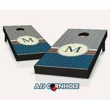 10 Piece Paisley Stroll Monogram Cornhole Set