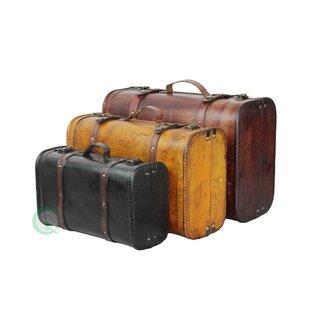 Trent Austin Design Freel 3 Piece Suitcase Trunk Set