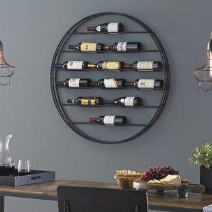 Label View 12 Bottle Wall Mounted Wine Rack
