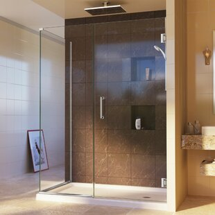 Unidoor Plus 46 x 72 Hinged Frameless Shower Door with Clear Max Technology by DreamLine