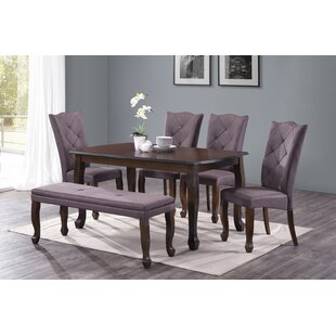 Reyer 6 Piece Dining Set Charlton Home