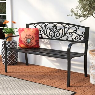 Carennac Scroll Backrest Iron Garden Bench