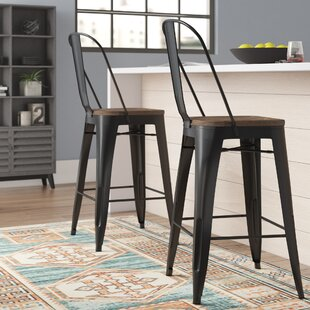 Enfield 42 Bar Stool (Set of 2) by Williston Forge