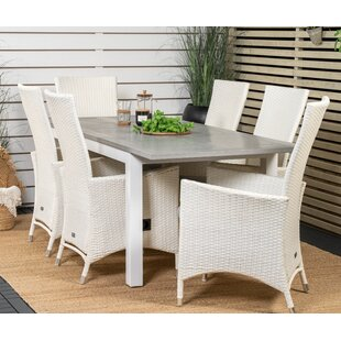 Alastor 6 Seater Dining Set With Cushions By Sol 72 Outdoor
