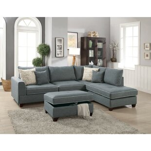 Hong Dorris Reversible Sectional with Storage Ottoman by Alcott Hill