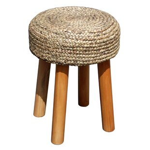 D-Art Collection Island Woven Round Accent Stool