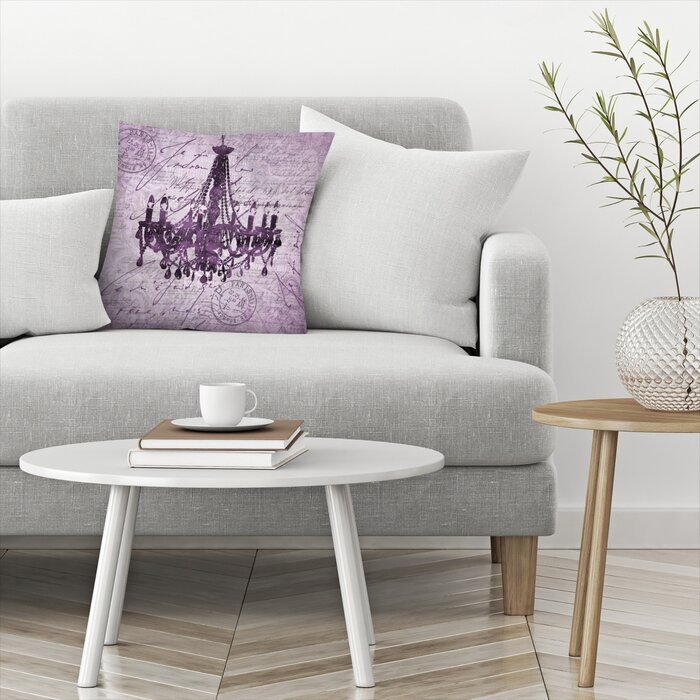 Wondrous Purple Baroque Chandelier Throw Pillow Ocoug Best Dining Table And Chair Ideas Images Ocougorg