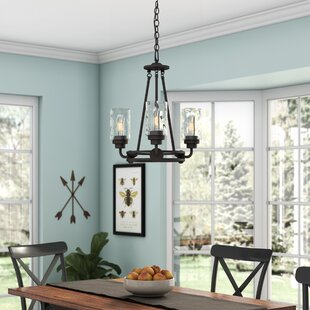 Laurel Foundry Modern Farmhouse Westhope 3-Light Shaded Chandelier