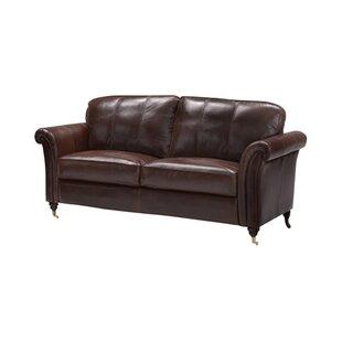 Nightsbridge Leather 3 Seater Sofa By Rosalind Wheeler