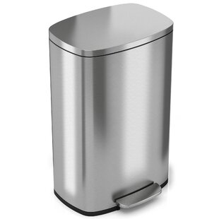 Merveilleux Soft Step Stainless Steel Kitchen 13.2 Gallon Step On Trash Can