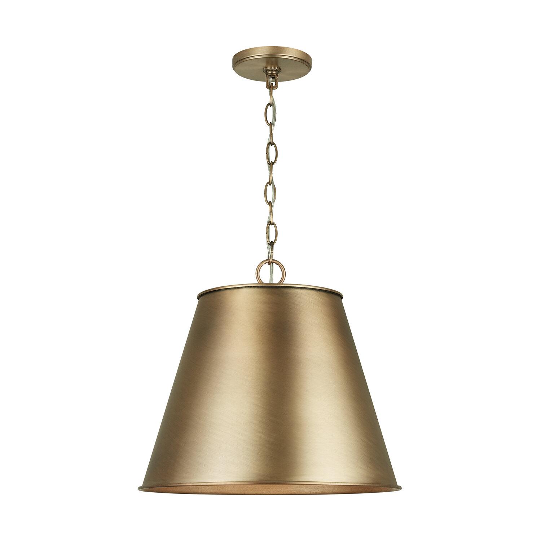Everly Quinn Salome 1 Light Single Cone Pendant Wayfair