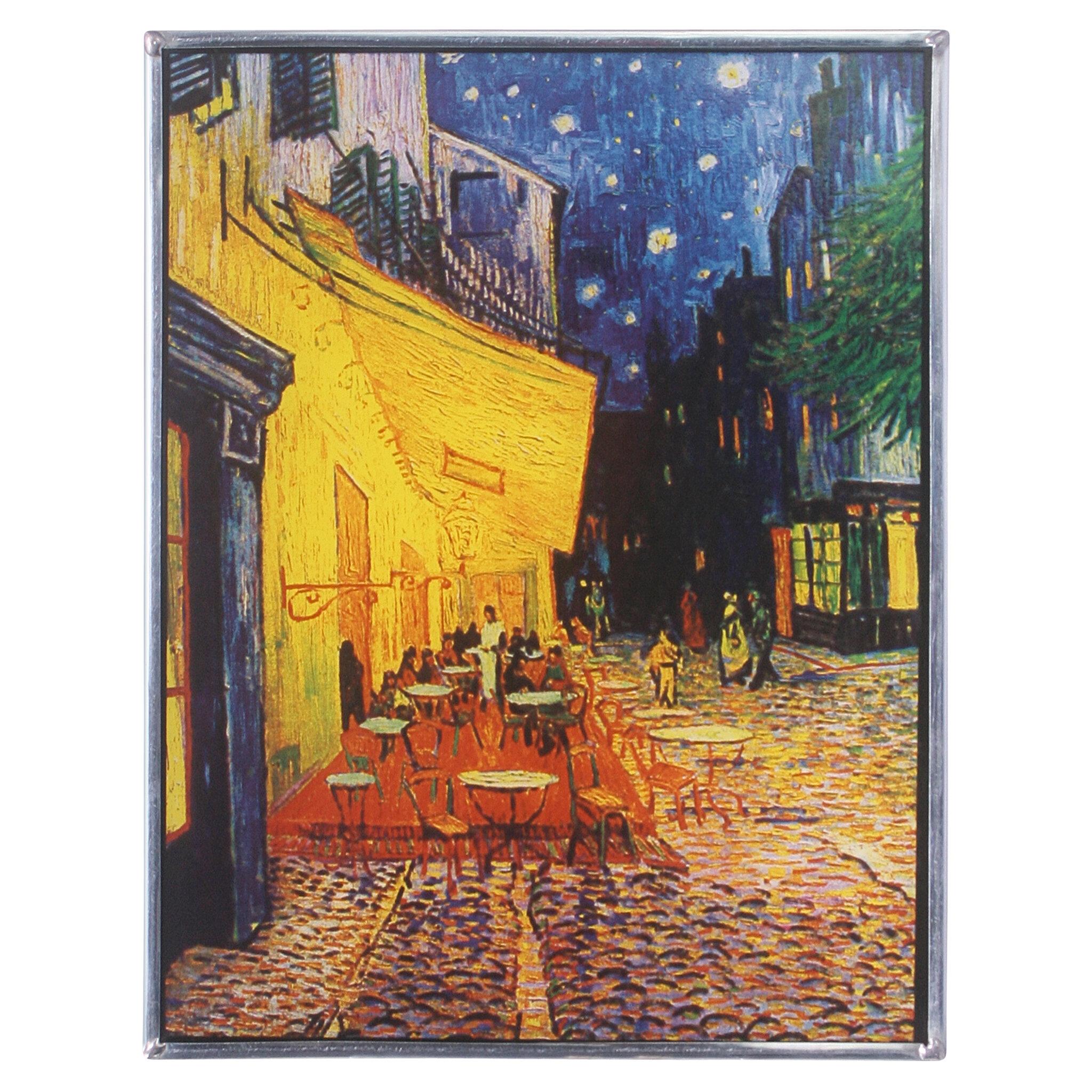 Design Toscano Cafe Terrace at Night 1888 Art Glass Wall Décor | Wayfair