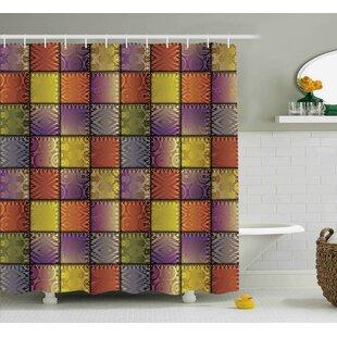 Reviews Meadow Digital Mix Motif Shapes Shower Curtain ByWinston Porter
