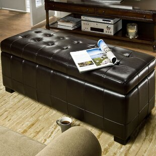 Sinope Leather Storage Bench by Brayden Studio