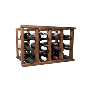 Allaire 12 Bottle Tabletop Wood Wine Rack..