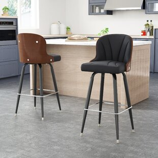 Skegness Adjustable Height Bar Stool (Set of 2) Orren Ellis