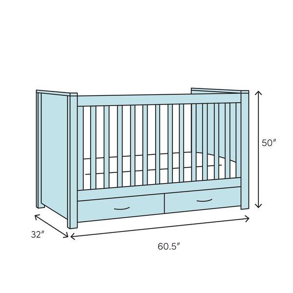 Harriet Bee Suman 4 In 1 Convertible Crib Wayfair