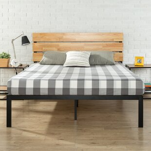 Alianna Metal/Wood Platform Bed by Turn on the Brights