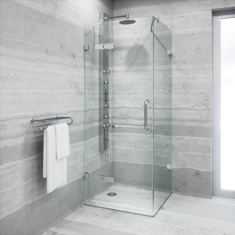 Monteray 34.25 X 34.25 X 73.37 Frameless Shower Enclosure With .375 In.