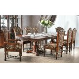 Chao 9 Piece Solid Wood Dining Set by Astoria Grand