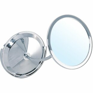 Winston Porter Moschini Suction Cup Round Double-Sided Makeup/Shaving Mirror