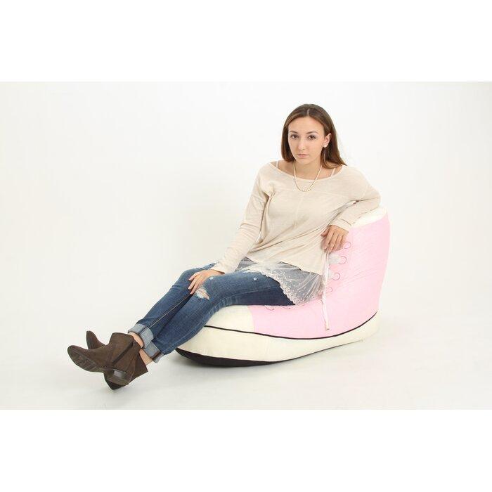Surprising Pink Sneaker Bean Bag Chair Machost Co Dining Chair Design Ideas Machostcouk