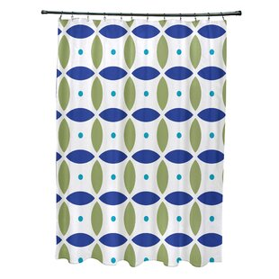 Beach Ball Geometric Print Single Shower Curtain