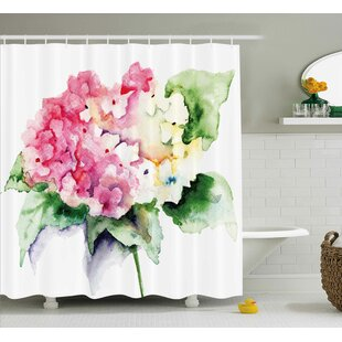 Hydrangea Single Shower Curtain