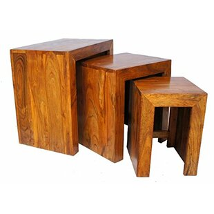 Sheesham Cube 3 Piece Nest Of Tables