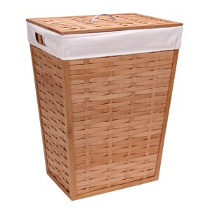 Lidded Wicker Laundry Hamper
