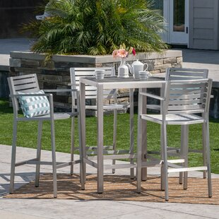 Royalston Outdoor 5 Piece Bar Set by Brayden Studio